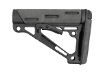 Hogue AR-15/M-16 OverMolded Collapsible Buttstock - Fits Commercial Buffer Tube - Ghillie Green
