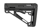 Hogue AR-15/M-16 OverMolded Collapsible Buttstock - Fits Commercial Buffer Tube - Black Rubber