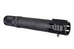 Hogue AR-15/M-16 Rifle Length Free Float Forend with OverMolded Gripping area and Accessory Attachments - Black