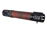 Hogue AR-15/M-16 Rifle Length Free Float Forend with OverMolded Gripping area and Accessory Attachments - Red Lava