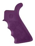Hogue AR-15/M-16 Rubber Grip Beavertail with Finger Grooves Purple