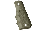 Hogue Govt. Model 1911 Rubber Grip with Finger Grooves - OD Green