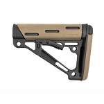 Hogue AR-15/M-16 OverMolded Collapsible Buttstock - Fits Commercial Buffer Tube - Flat Dark Earth