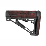 Hogue AR-15/M-16 OverMolded Collapsible Buttstock - Fits Mil-Spec Buffer Tube - Red Lava