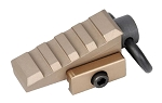 Element Airsoft Pyramid Angled Rail Adaptor Sling Swivel - Tan