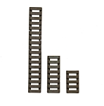 Element Airsoft LowPro Ladder Rail Covers - 3 Pack - Dark Earth