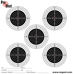 ProShot Match Targets (Box of 800) - 14cm