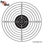 ProShot Pistol Targets (Box of 800) - 14cm