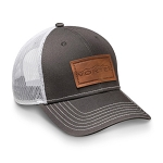 Vortex Dark Grey Leather Patch Hat