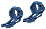 UTG ACCU-SYNC 34mm High Profile 37mm Offset Picatinny Rings - Blue