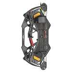 EK Archery Buster Junior Compound Bow - 15-29lbs - Black