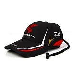 Daiwa Fishing Hat Adjustable Baseball Cap Black