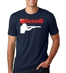 Benelli Shotgun Blue T-Shirt - Large