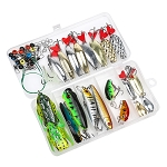 Mixed Minnow Spoon Soft Frog Fishing Lure Set