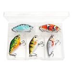 5 Lure Set of 4cm 4g Mini Crankbaits
