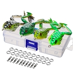 4 Piece Soft Fishing Frog Lures in Box