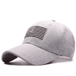 Grey USA Flag Baseball Cap