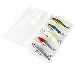 5 Piece Lure Set 3D Eyes 8.5cm with Lure Box