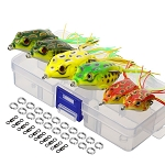 Boxed 6 Piece Soft Frog Fishing Lure Baits Kit