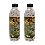 ProShot Airsoft BBs Biodegradable 0.25g - 3000bb Bottle x 2