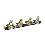 Woody's Fold-N-Shoot Prairie Dog Plate Rack x 5
