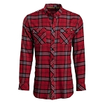Vortex Men's Button Up Shirt - Red Flannel