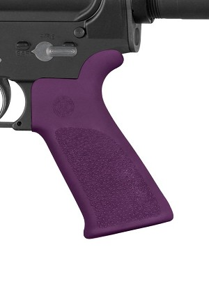 Hogue AR-15/M-16 Rubber Grip Beavertail with No Finger Grooves Purple