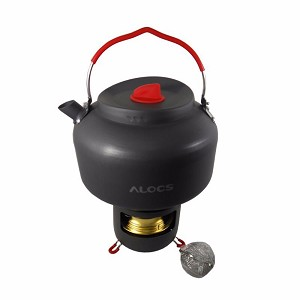 ALOCS Camping Tea Kettle & Alcohol Stove Set