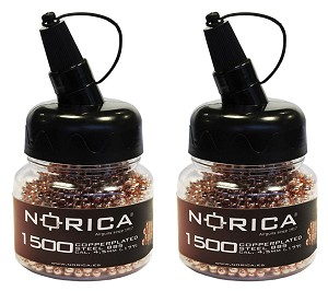 Norica Copper Plated Steel BB's .17 x 3000