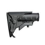 IMI Defense M4 Enhanced Mil-Spec Stock with Polymer Cheek Rest - Black