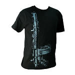 Yankee Hill Machine Black Vertical Rifle T-Shirt - Large