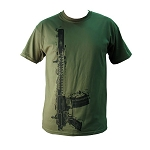 Yankee Hill Machine Green Vertical Rifle T-Shirt - X Large