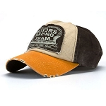 Stressed Look Unisex Motors Racing Baseball Cap Orange