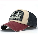Stressed Unisex Motors Racing Baseball Cap Red