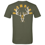 Browning Big Game Skull T-Shirt - Medium