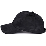 Dark Black Camouflaged Pattern Baseball Cap