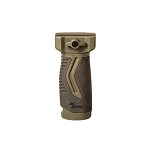 IMI Defense OVG – Overmolding Vertical Picatinny Grip - Olive Drab Green/Black
