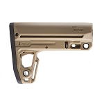 IMI Defense TS2 Mil-Spec Tactical buttstock W/Extended Overmolded Buttplate - Tan