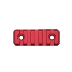 5 Slot Aluminium Picatinny M-Lok Rail - Red