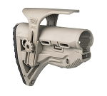 FAB Defense GL - SHOCK Tactical Buttstock with Adjustable Cheek Rest - Tan