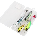 13 Piece Travel Fishing Lure Set in Box