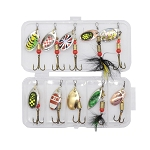 10 Piece Boxed Set Fishing Spinner Lures 2.5-4g