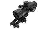 UTG Compact Prismatic 4X32 T4 Scope, 36-Color, T-DOT SCP-T4IETDQ