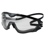 Edge Tactical Super 64 - Black Frame / Clear Vapor Shield Lenses