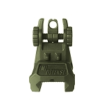 IMI Defense TRS – Tactical Rear Polymer Flip Up Sight - Olive Drab Green