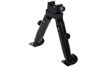 UTG Shooter's Competition Bipod, Steel Feet, Height 4.6