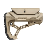FAB Defense GL-CORE CP AR15/M4 Buttstock with adjustable Cheek-Rest for Mil-Spec and Commercial Tubes - Tan