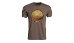 Fall Flush Logo T-Shirt - Brown Heather - Medium