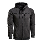 Vortex Optics Grey Zip Up Hoodie - X Large